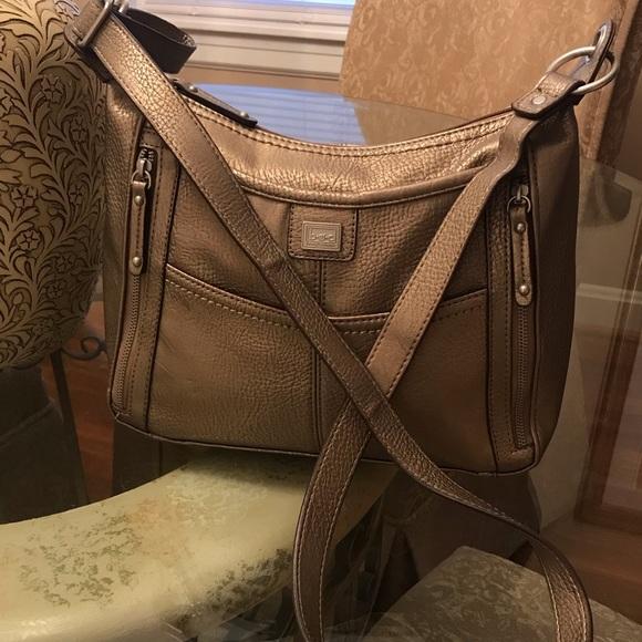 boc Handbags - BOC Bronze Leather Crossbody. Good Condition!